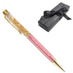 Boligrafo pan de oro rosa...